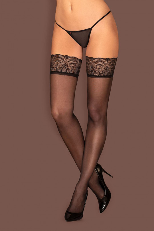 Obsessive чулки Firella Stockings, S/M, чёрные